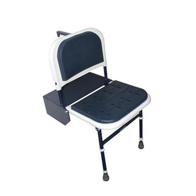 Nymas Doc M Compliant Shower Seat - Dark Blue Padding