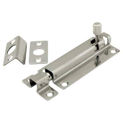 Straight Barrel Bolt - 150 x 38mm - Polished Stainless Steel)