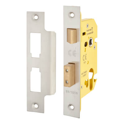 Altro Euro Profile Sashlock - 65mm Case - 44mm Backset - Satin Stainless