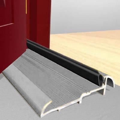 Exitex Threshold Strips - 1829mm - Outward Opening Doors - Mill Aluminium