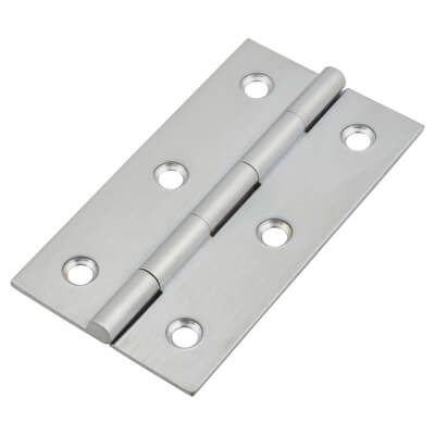 Solid Drawn Hinge - 64 x 35 x 1.45mm - Satin Chrome