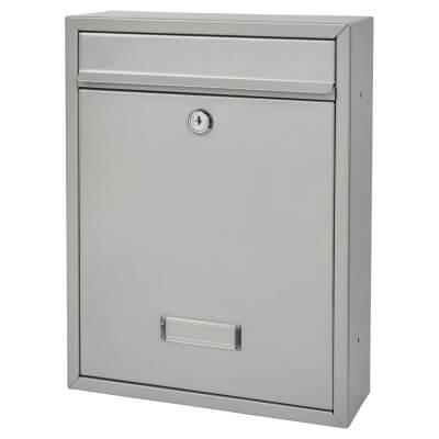 Trent Mailbox - 260 x 340 x 88mm - Silver)