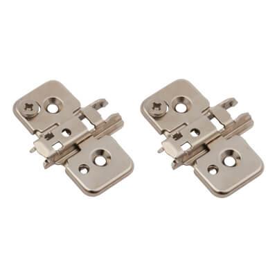 Blum CLIP Cruciform Mounting Plate - Screw On - 0mm Spacing - Pressed Steel - Pair)