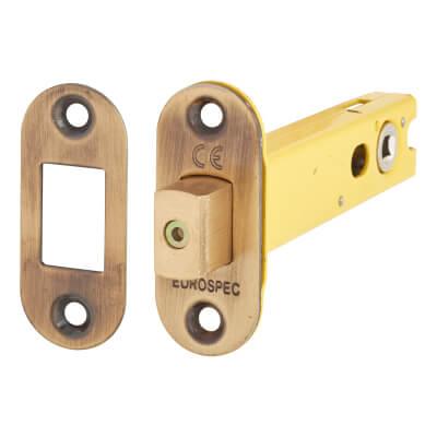 Altro 5mm Tubular Bathroom Deadbolt - 103mm Case - 82mm Backset - Radius - Florentine Bronze
