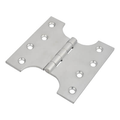 Parliament Hinge - 100 x 50 x 100mm - Satin Chrome- Pair