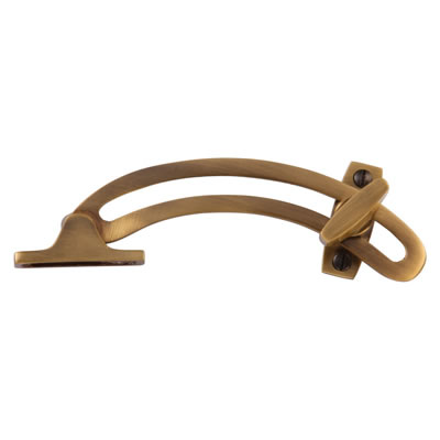 Locking Quadrant Stays - Antique Brass)