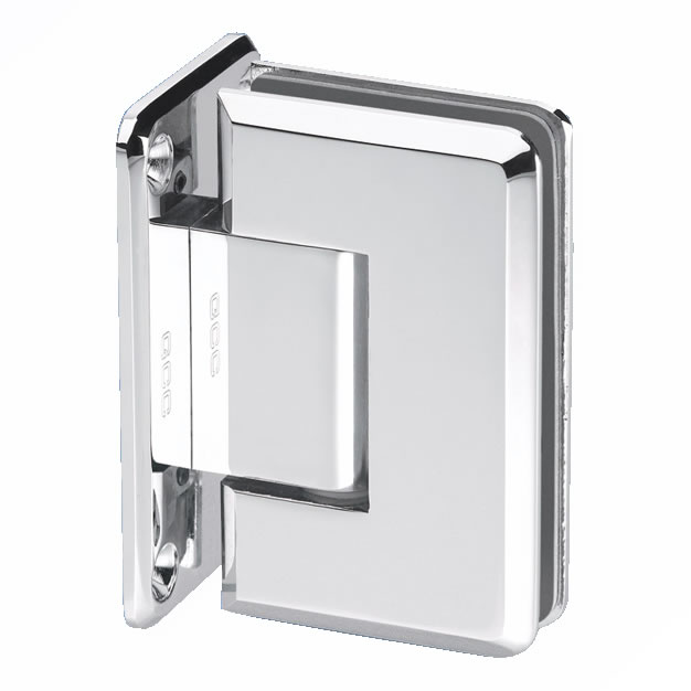 Wall Mount Shower Hinge - Double Sided - 10mm Glass