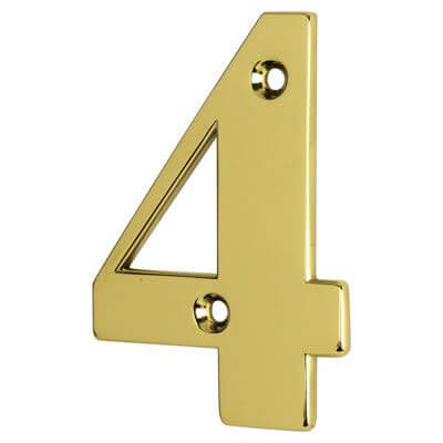 76mm Numeral - 4 - Gold