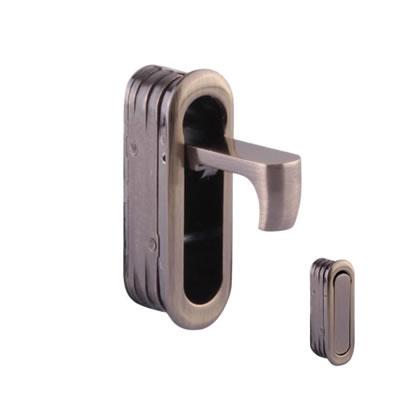 Door Edge Finger Pull - 58 x 18 x 18mm - Antique Brass