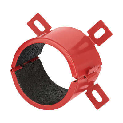 Sealmaster FireClose Intumescent Pipe Collar - 55mm - Red)