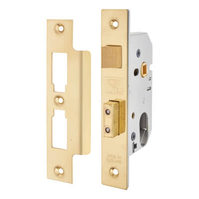 UNION® Oval 2241 Sashlock - 77mm Case - 57mm Backset - Polished Brass