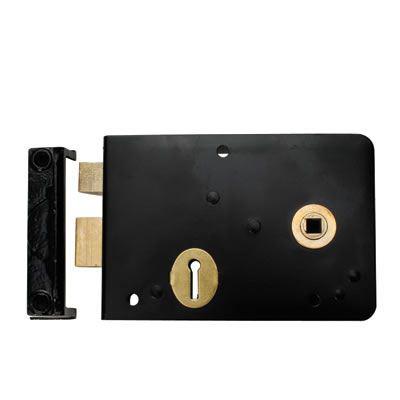 Scotch Rim Lock - Right Hand - Black