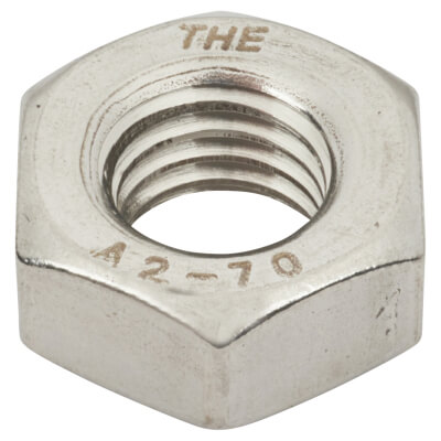 TIMco Hex Full Nut - M4 - A2 Stainless Steel - Pack 10