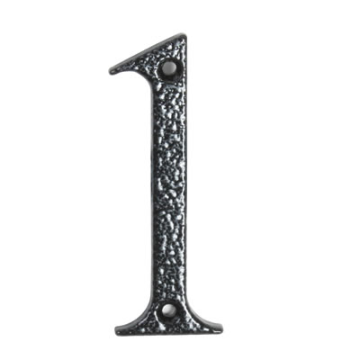 76mm Numeral - 1 - Antique Black Iron