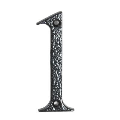 76mm Numeral - 1 - Antique Black Iron