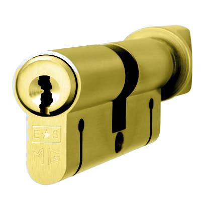 Eurospec MP15 - Euro Cylinder and Turn - 35[k] + 35mm - Polished Brass  - Keyed Alike