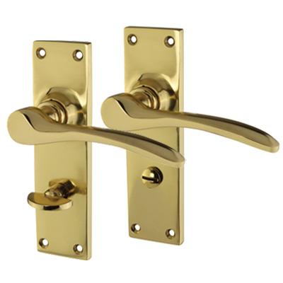Hampstead Door Handle - Bathroom Set - Polished Brass