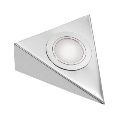 Leyton LED Triangle Cabinet Downlight With Driver - 130 x 130mm - 3 x 1.5W)