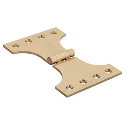 Jedo Heavy Parliament Hinge - 102 x 102 x 152mm - Polished Brass)