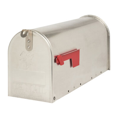 DAD Chicago US Style Mail Box - 240 x 180 x 480mm - Silver)