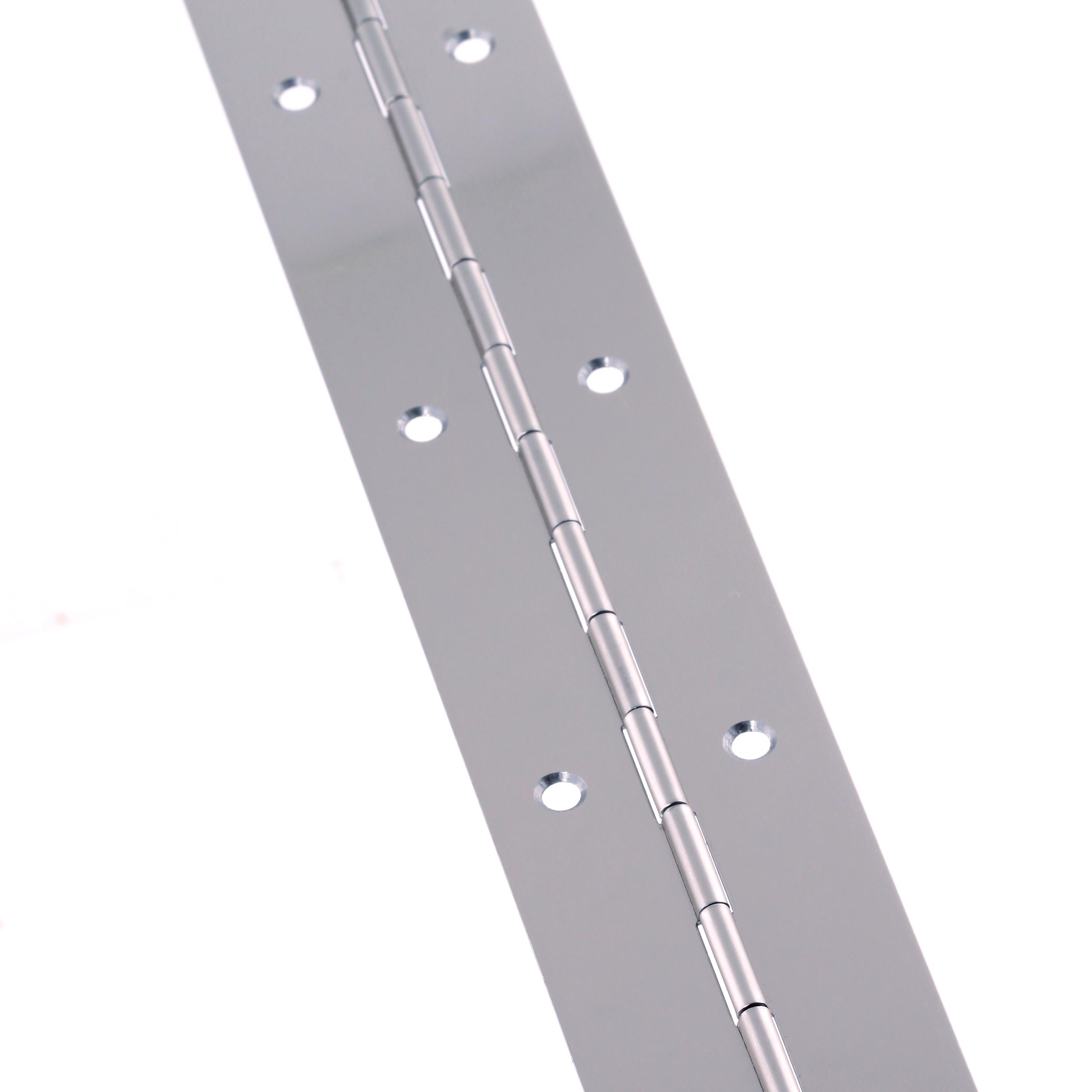 Steel Piano Hinge - 1800 x 38 x 0.7mm - Nickel Plated)