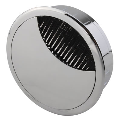 ION Mirror Effect Round Cable Tidy - 80mm - Chrome)