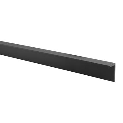 Pro Angled Headrail - Black Textured - 17-19mm Panels