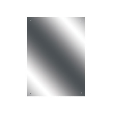 Pre Drilled Mirror - 500 x 700mm - Ultrabright Finish)
