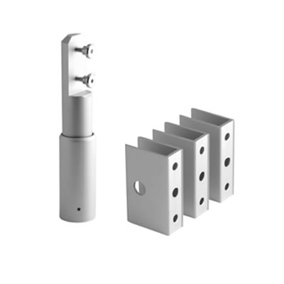 Cubicle Pack 'B' - 12-13mm Panels - Satin Anodised Aluminium)