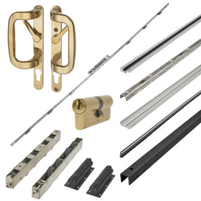 Patioslide Single Patio Door Kit - Gold - 100kg)
