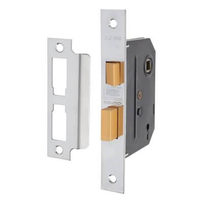UNION® 2295 2 Lever Sashlock - Key Number M40H - 76mm Case - 57mm Backset - Chrome
