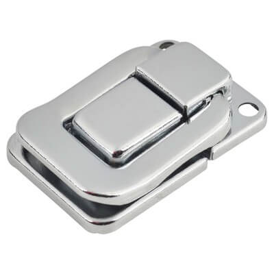 Square Case Catch - 39 x 29mm - Nickel Plated Silver - Pack 5