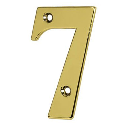 76mm Numeral - 7 - Gold