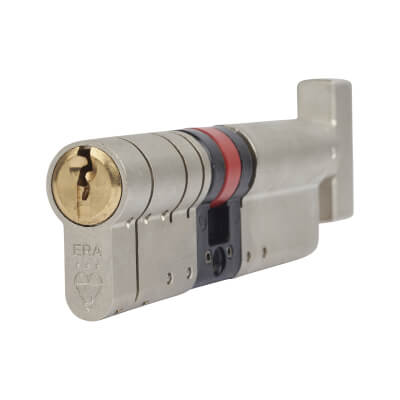 ERA 3 Star Fortress Cylinder - Euro Thumbturn - Length 100mm - 55[k]* + 45mm - Nickel and Brass