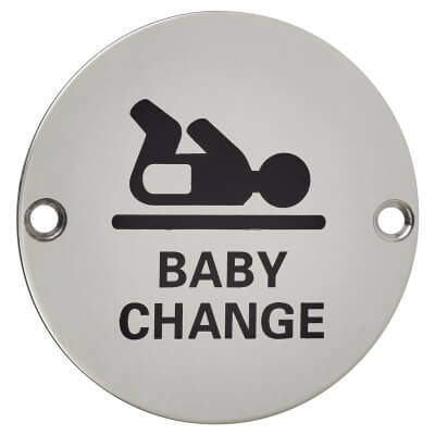 Baby Change - 75mm - Polished Stainless Steel