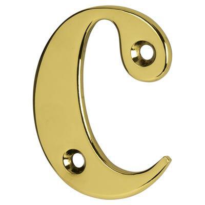 76mm Letter - C - Gold