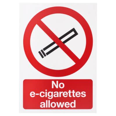 No E-Cigarettes Allowed - 297 x 210mm