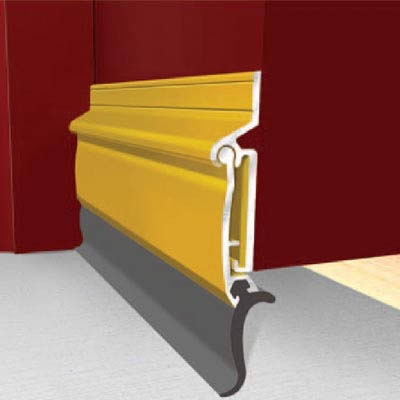 Exitex Automatic Rise and Fall Door Draught Excluder - 914mm - Inward Opening Doors - Gold)