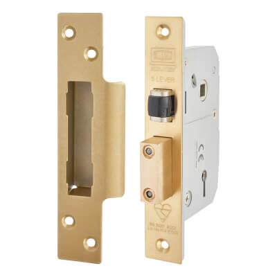 UNION® 3K74 BS3621:2007 Mortice Sashlock - 67mm Case - 40mm Backset - Polished Brass