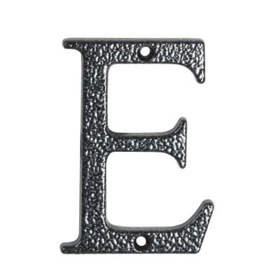 76mm Letter - E - Antique Black Iron