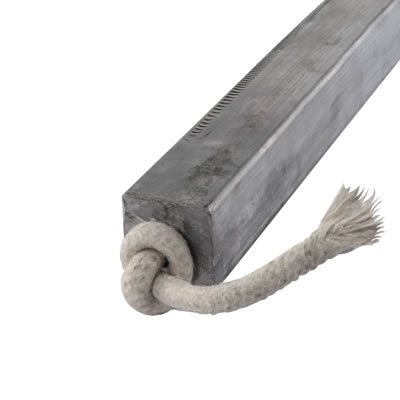 Lead Square Sash Weight - 6.26kg - 32 x 32 x 600mm)