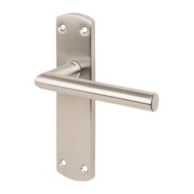 Steelworx CSL Mitred Door Handle - Latch Set - Satin Stainless Steel)