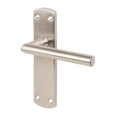 Steelworx CSL Mitred Door Handle - Latch Set - Satin Stainless Steel