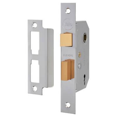Yale® 2 Lever Interior Door Sashlock - 67mm Case - 45mm Backset - Chrome