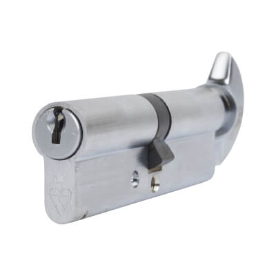 ERA 1 Star Kitemarked Cylinder - Euro Thumbturn - Length 100mm - 50[k]* + 50mm - Nickel)