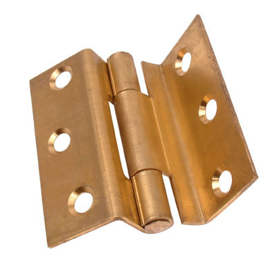 Storm Proof Casement Hinge - 63mm - Self Colour Brass