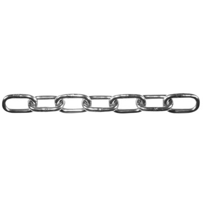 Straight Linked Chain - Stainless Steel - 2.5 x 17mm)