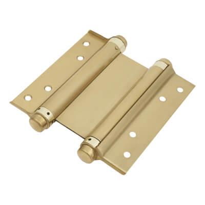 Double Action Spring Hinge - 153mm - Brass Plated)