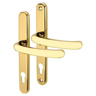 Kensington Security Multipoint Door Lock - uPVC/Timber - Lever/Lever - 92mm centres - Hardex Gold