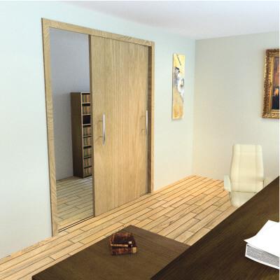 Barrier Loft 2.0 Bi-Passing Sliding Door 2 Door Fittings Pack)